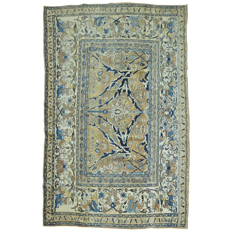 19th Century Persian Hadji Jali Li Tabriz Rug