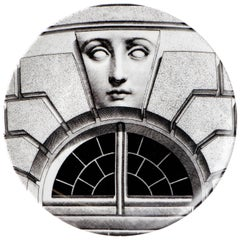 """Fornasetti Porcelain """"Themes and Variations"""" Plate No 212, Italy, circa 1990"""