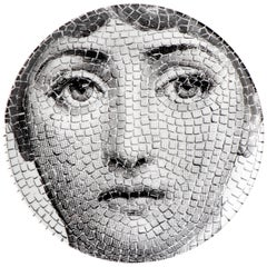 "Fornasetti Porcelain ""Themes and Variations"" Plate No 131, Italy, circa 1990"
