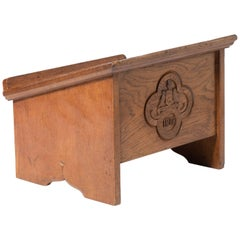 "Robert ""Mouseman"" Thompson Oak Bookstand, England, circa 1947"