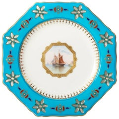 Porcelain Minton Plate, Attributed to Sir Christopher Dresser, circa 1890