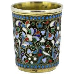 Antique Russian Silver and Enamel Shot Glass Possibly, Nikolai Pavlovich Pavlov