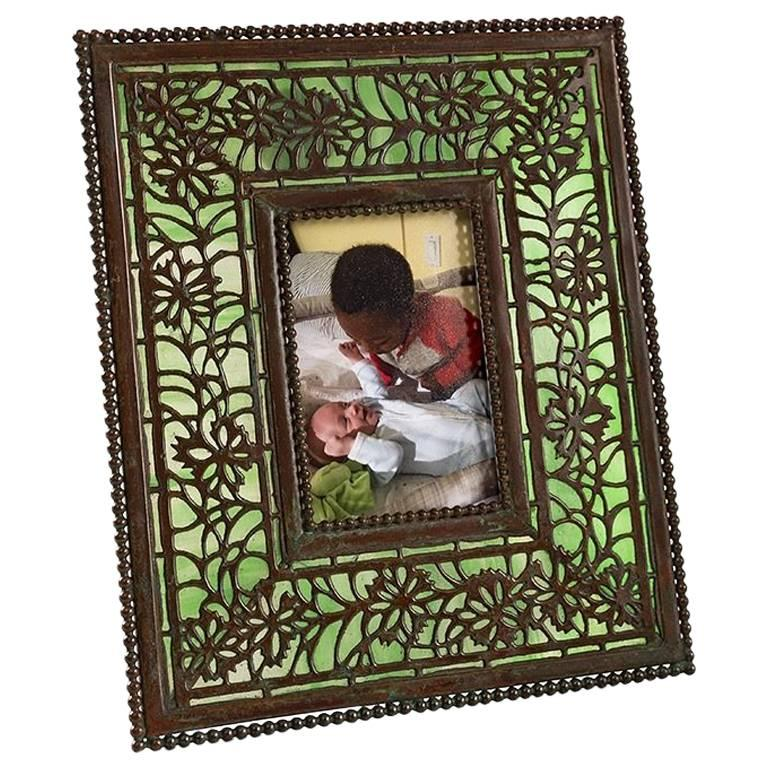 """Tiffany Studios """"Floral"""" Picture Frame"""