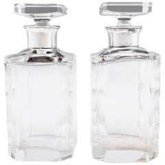 Art Deco French Lead Crystal Decanters, 20th Century