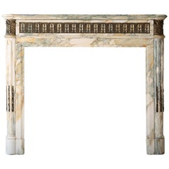Unique Antique Fireplace of Marble from the 19th Century
