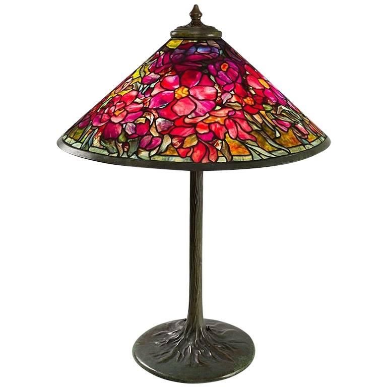"Tiffany Studios New York ""Peony Bouquet"" Table Lamp"