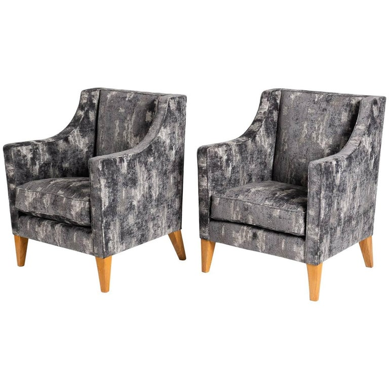 Jacques Quinet, Pair of Armchairs, France, Mid-20th Century