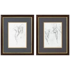 Pair of Nude Drawings by Ed Eller