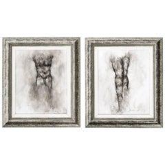 Pair of Nude Male Drawings by Ed Eller