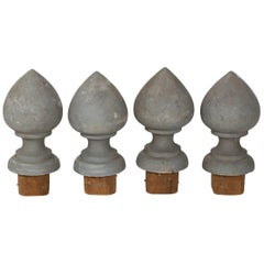 Set of Four Painted Architectural Finials