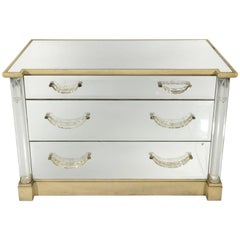 Mirrored Chest of Drawers by Grosfeld House, circa 1930s
