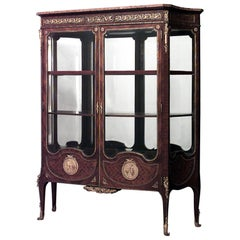 French Louis XV Style Vitrine Display Cabinet
