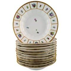 12 Royal Copenhagen Henriette, Henriette Large Soup Plates
