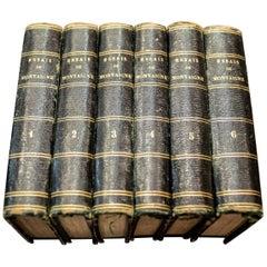 """1818 Chez Lefèvre """"Essays by Michel De Montaigne"""" Six Books"""