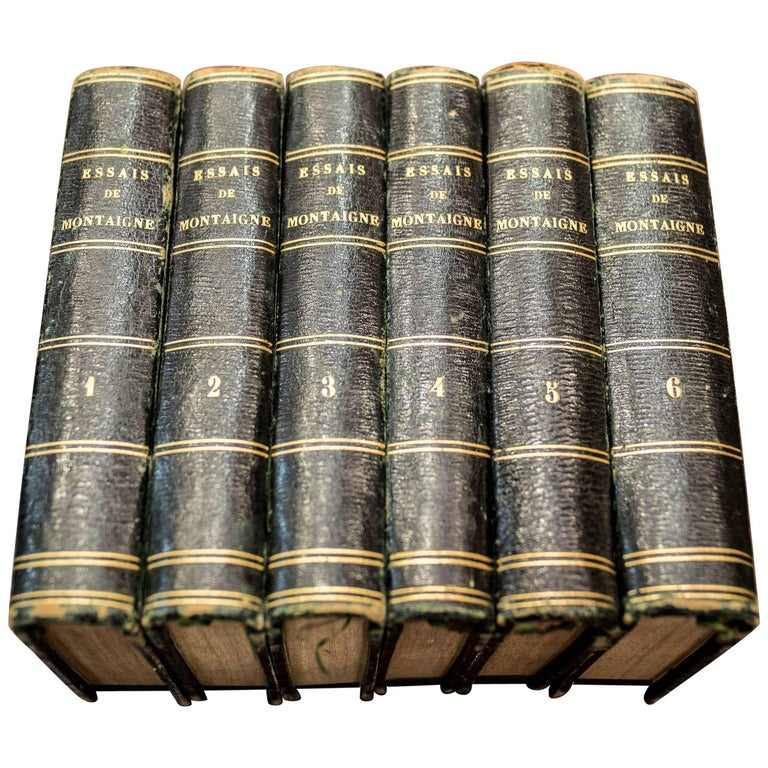 "1818 Chez Lefèvre ""Essays by Michel De Montaigne"" Six Books  For Sale"