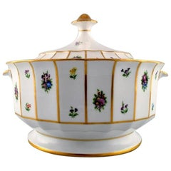 Royal Copenhagen Henriette, Hand-Painted Porcelain with Gold, Two Tureens