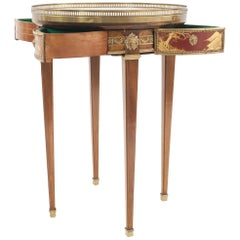 French Louis XVI Style '19th Century' Mahogany and Bronze Mechanical End Table