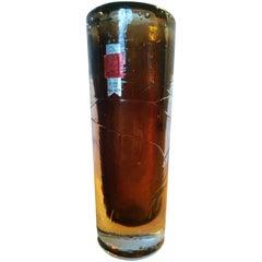 Midcentury Design Glass Vase