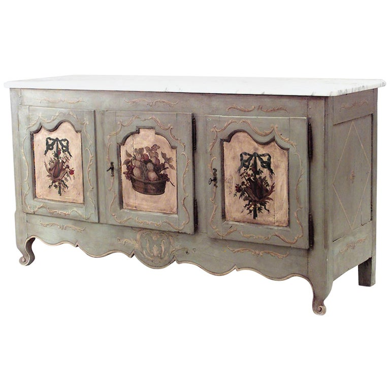 French Provincial Grey Painted Commode