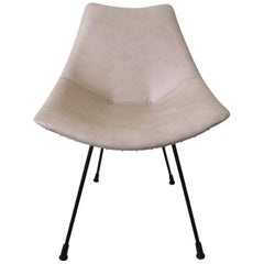 Small Zakonom Zasticeno Chair, White Leatherette, 1960s