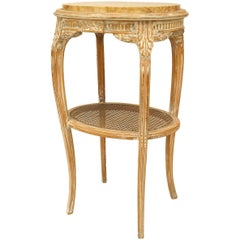 French Louis XV Style '19th Century' Bleached Oval End Table
