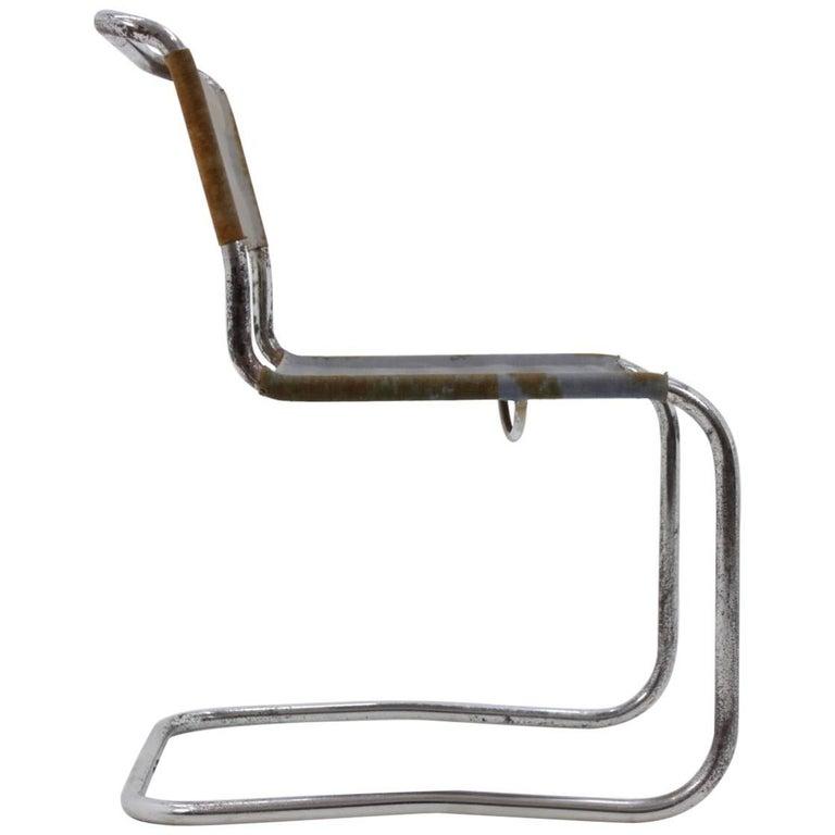 Marcel Breuer B-33 Bauhaus Chrome Chair for Thonet