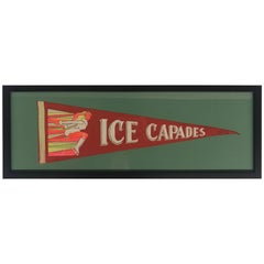 Framed Ice Capades Pennant