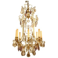 French Louis XV '19th-20th Century' Gilt Bronze Eight-Light Chandelier
