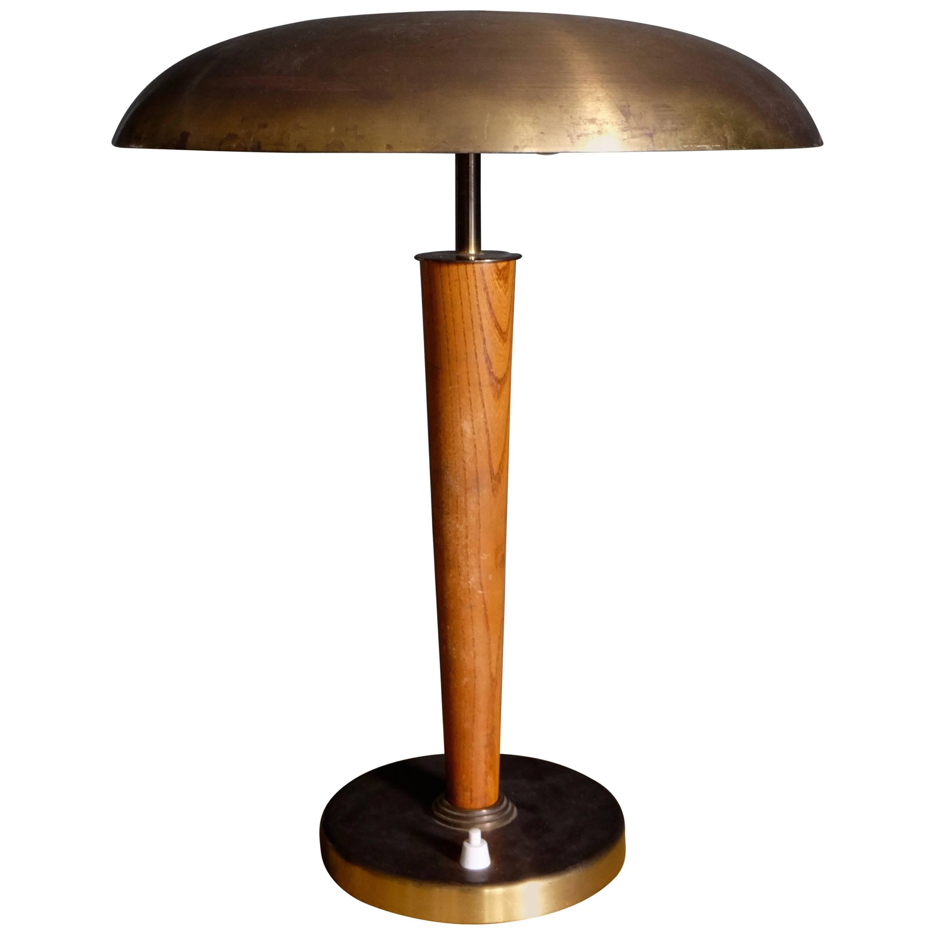 Swedish Brass Table Lamp by Boréns, 1950s