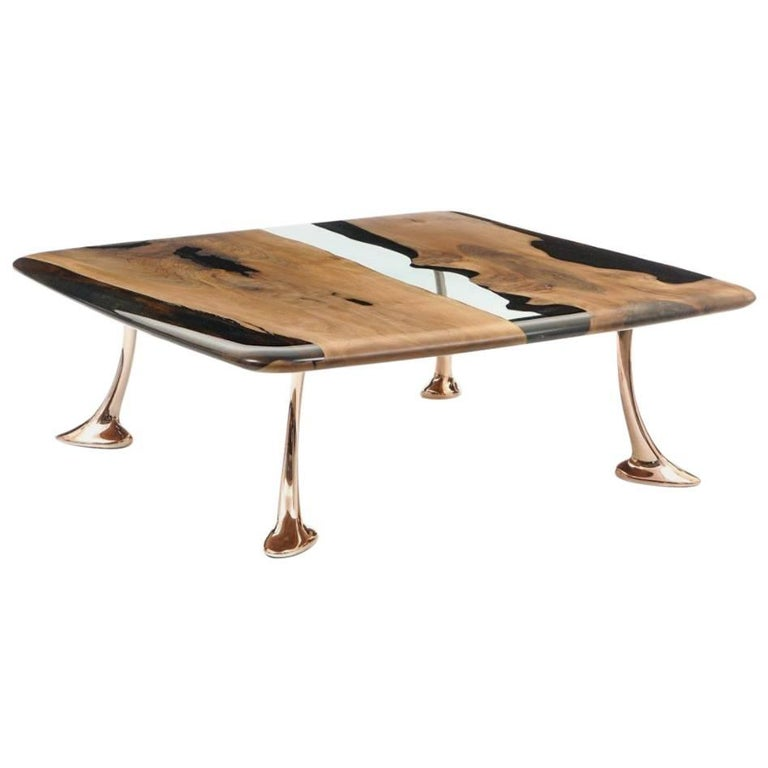 Osso Epoxy Resin Coffee Table For Sale