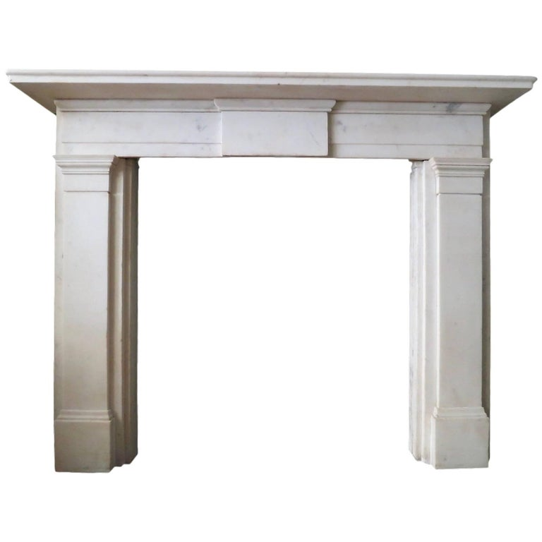 Early 19th Century Statuary White Marble Fireplace For Sale