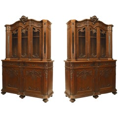 Pair of French Régence Style '19th Century' Breakfronts