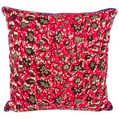 Purple/Red and Purple Backed African Wax Print Pillow
