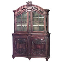 French Provincial '18th Century' Breakfront Cabinet