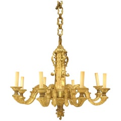 French Louis XVI Style '19th Century' Gilt Bronze Chandelier