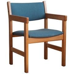 Oak Wood Chair by Hans J. Wegner