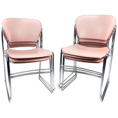 Vintage Krueger Perry Stacking Side Chairs