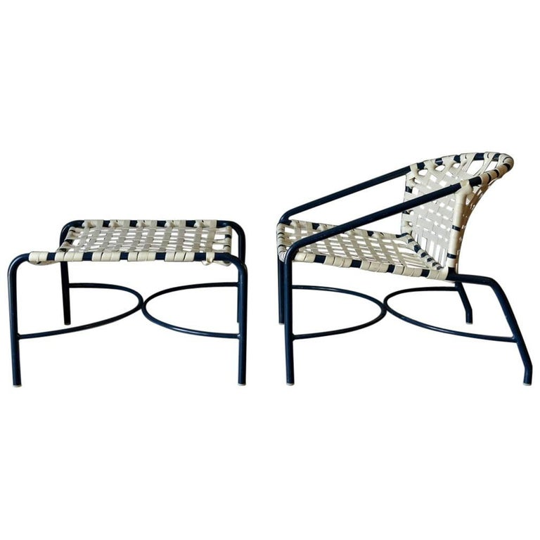 Outdoor Lounge Chair and Ottoman by Tadao Inouye for Brown Jordan, circa 1970