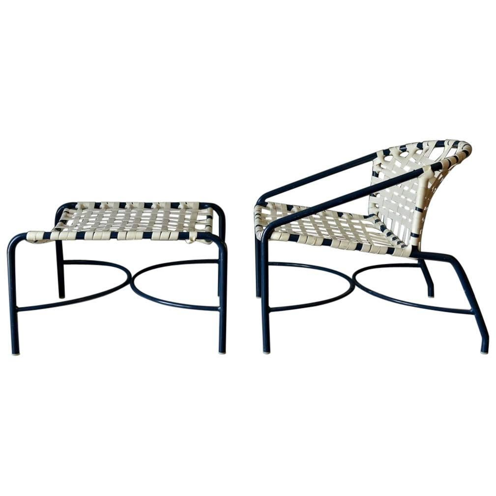 Outdoor Lounge Chair And Ottoman By Tadao Inouye For Brown Jordan, Circa  1970 For Sale