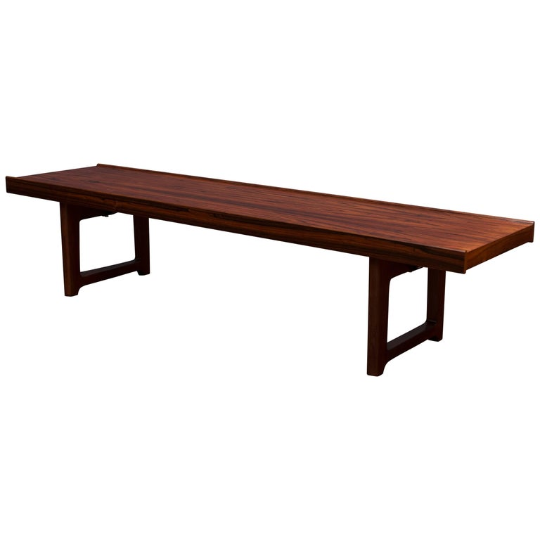 Danish Rosewood Bench or Coffee Table For Sale