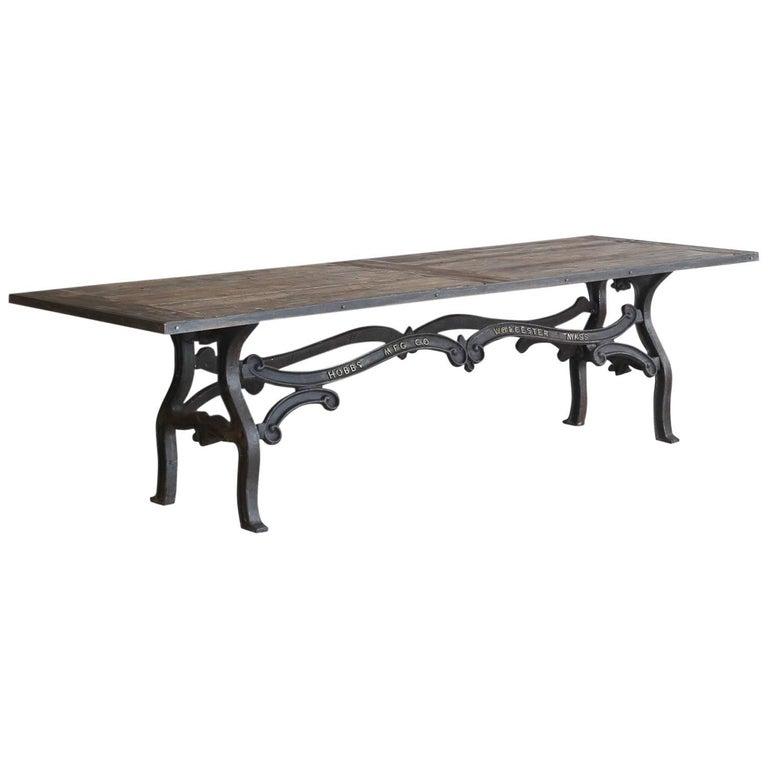 Cast Iron Dining Table, circa 1910