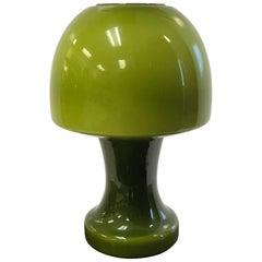 Italian Murano Green Glass Lamp