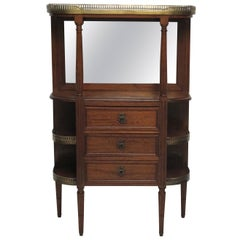 Mahogany Louis XVI Style What Not Stand with Marble Top, French, circa 1900