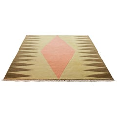 """""""Interior (Orange)"""" Hand-Knotted Wool Rug by Carpets CC"""