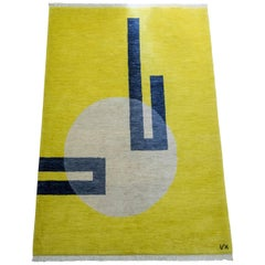 """Light Hole"" Hand-Knotted Wool Rug by Carpets CC"