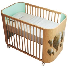 Embrace Adventure Crib in Beech Wood & Light Celadon Green by MISK Nursery