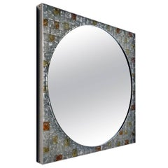 Poliarte Italian Design Backlit Glass Wall Mirror by 1960s-1970s