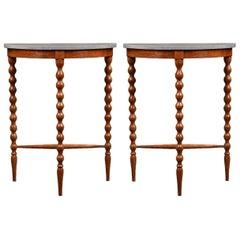 Pair of Modern Bobbin Legged Side Tables