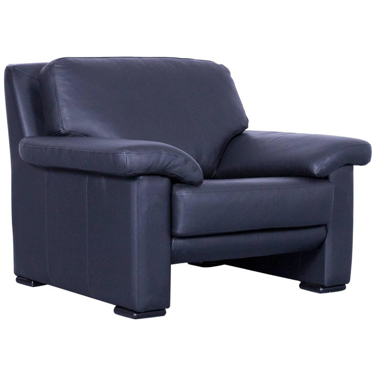Ewald Schillig Armchair Black Leather One Seat For Sale