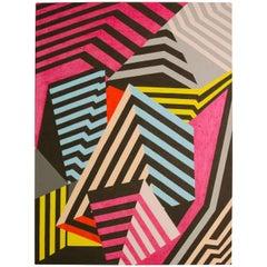 """""""Folded"""" 2015 Acrylic on Canvas by Cecilia Setterdahl"""